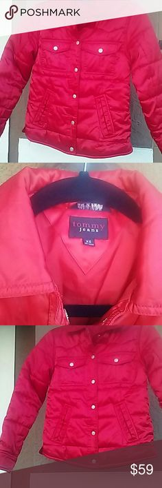 Tommy Hilfiger Red Puffer Jacket Tommy Hilfiger Kids XS Red Puffer Style Winter Coat.  Pet and Smoke Free Home. No Stains or Flaws Make an offer. Thanks for stopping by, please check out my closet for more cool finds. Tommy Hilfiger Jackets & Coats Puffers