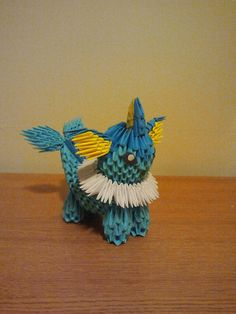 Vaporeon 3D Origami Pokemon
