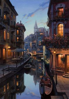 - City Paintings by Eugene Lushpin