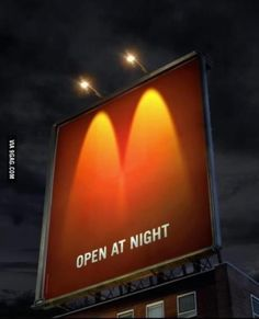 Great inspirational billboard example from McDonald's! See more creative advertising ideas here! Creative Advertising, Guerrilla Advertising, Ads Creative, Advertising Campaign, Advertising Design, Marketing And Advertising, Advertising Ideas, Funny Advertising, Marketing Communications