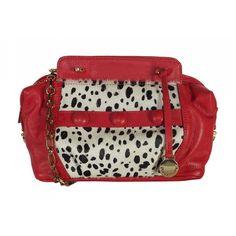 b44bcd22d Bolsa Corrente Vermelha Animal Print de Couro. Bolsas personalizadas. Loja  virtual: www.