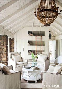 cottage cabin - planked walls