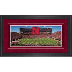 "Nebraska Cornhuskers Fanatics Authentic Framed 17"" x 31"" Memorial Stadium Gameday Panoramic Photograph - $99.99"