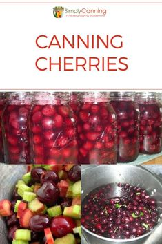 Canning cherries is a good alternative to freezing and adds some bright color to any pantry. Use them for making quick cobblers, pies, or candied cherries. Canned Cherries, Frozen Cherries, Sweet Cherries, Tart Cherries, Cherry Recipes, Jelly Recipes, Fruit Recipes, Nutella Recipes, Canned Applesauce