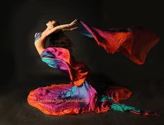 colorful belly dancer belly dancing costume & veil #fly #flying