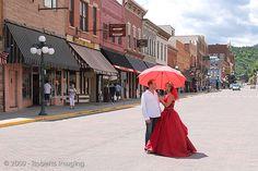 Misty & Corbin's historic and haunted Deadwood wedding extravaganza Deadwood South Dakota, Offbeat Bride, Old West, Wedding Photos, Wedding Ideas, Casual Outfits, Street View, Wedding Photography, Sd