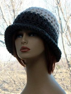 Check out this item in my Etsy shop https://www.etsy.com/listing/576359689/womens-crochet-hat-flapper-brim-hat