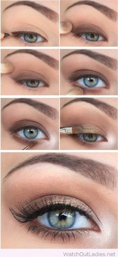 How To: Step By Step Eye Makeup Tutorials And Guides For Beginners http://amzn.to/2t7zprH