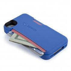 Skip the wallet and leave the purse at home with this cleverly designed iPhone 4S/4 case. Carry up to 3 credit-card sized cards (or folded bills) securely in the built-in slot. Made from  flexible polymer for lightweight, durable protection. Rubberized button covers add protection and feel, and the raised edge bezel helps protect your screen.