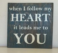 """This made from the heart handmade distressed wooden sign is 12"""" x 12"""" in size*. It has an Early American stained and distressed navy paint background with cottage white lettering. This sign has a stai"""
