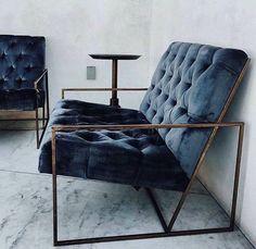 Modern Dark Blue Home decor Chair More