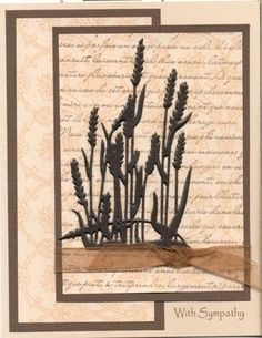 Cattail CASE by scootsv - Cards and Paper Crafts at Splitcoaststampers Masculine Birthday Cards, Masculine Cards, Pretty Cards, Cute Cards, Spellbinders Cards, Die Cut Cards, Marianne Design, Get Well Cards, Fall Cards