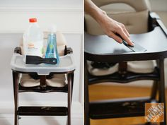 Parents, save this for later! Step-by-Step Guide to Getting the High Chair Clean.