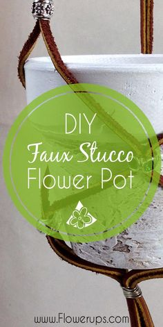 Cool faux Stucco Flower effect on flower pot - using spackle! Will try this one - I love the texture. Good indoor gardening