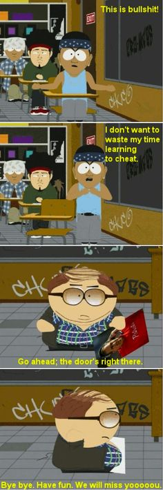 South Park Cartman as teacher