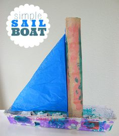 cute  simple boat craft. Great for summer camp.