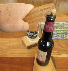 Bottle opener that's better than a nail in a stick