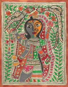 Madhubani Ardhanarishvara Art