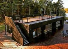 Shipping container homeYou can find Shipping container design and more on our website.Shipping container home Small House Design, Modern House Design, Loft Design, Cottage Design, Container Architecture, Architecture Design, Sustainable Architecture, Contemporary Architecture, Plans Architecture