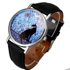 Essential New Cat Pattern Leather Band Analog Quartz Wristwatch Bangle Bracelet Female Dress Relogio Women Watches Relojes Oct22