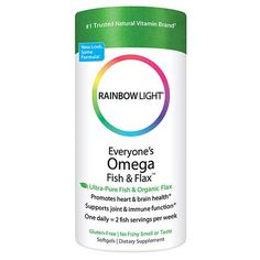 Rainbow Light Everyones Omega Fish  Flax Oil 60Count Softgels -- To view further for this item, visit the image link.  This link participates in Amazon Service LLC Associates Program, a program designed to let participant earn advertising fees by advertising and linking to Amazon.com.