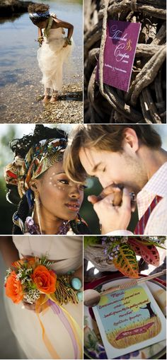African Wedding Inspiration from Zoom Photography + Mary Kinney - Style Me Pretty Tribal Makeup, Dream Wedding, Wedding Day, Wedding Pics, Wedding Themes, Summer Wedding, Wedding Cakes, Biracial Couples, South African Weddings