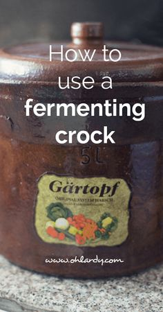 How To Use A Fermenting Crock (With Simple Sauerkraut Recipe)