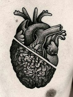 @kamilczapiga heart Brain tattoo                                                                                                                                                                                 Más