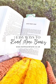 7 ways to make time to read when you have a busy schedule. This is how busy people make time to read every day!