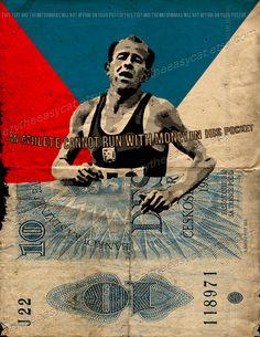 Emil Zatopek quote czech locomotive sport running marathon