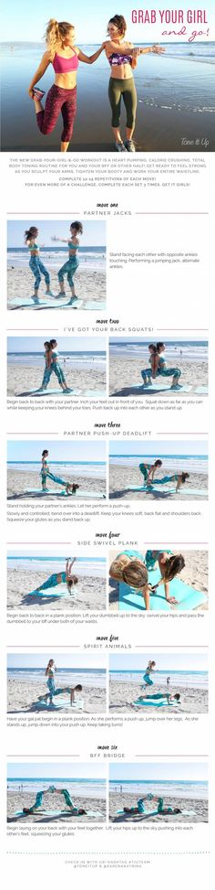 Pull up this workout on your phone the next time you head to the gym with your bestie: