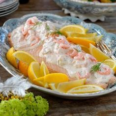 Tasty, Yummy Food, Swedish Recipes, Fish And Seafood, Fresh Rolls, Food Inspiration, Catering, Salmon, Main Dishes