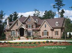 Cottage Craftsman European Southern Traditional Elevation of Plan 97617