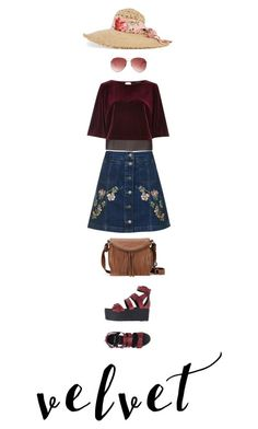 """Velvet summer story"" by haineni ❤ liked on Polyvore featuring River Island, Topshop, Pierre Hardy, Gucci, The Sak and Steve Madden"
