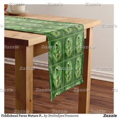 Fiddlehead Ferns Nature Pattern Short Table Runner at Smilin' Eyes Treasures on Zazzle.