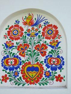 Folk Art Flowers, Flower Art, Polish Folk Art, Principles Of Art, Art Bag, Cool Art Drawings, Art For Art Sake, Mural Painting, Renaissance Art