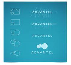 Advantel logo process by Creatorica