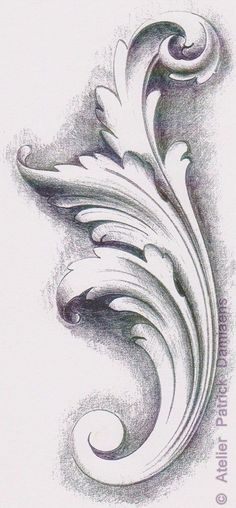Ornamental Woodcarver Patrick Damiaens The Acanthus Leaf Acanthus Ornament Carving Happy New Year Sculpture Ornementale, Sculpture Tattoo, Baroque Sculpture, Motif Baroque, Filigree Tattoo, Ornament Drawing, Grisaille, Desenho Tattoo, Carving Designs