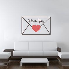 """""""I love you""""! Romantic wallsticker https://www.adesiviamo.it/prodotto/1169/Adesivi-da-parete/Adesivi-da-parete/Love-Message-Wall-Sticker-Adesivo-da-Parete.html"""