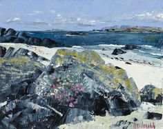 Frances Macdonald  Sea Pinks Sheltering  Passing Islands - The Scottish Gallery, Edinburgh - Contemporary Art Since 1842