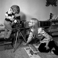 Pola Raksa z synem Marcinem w obiektywie Jerzego Troszczyńskiego, 6 lutego 1971 roku.