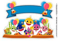 An online card Shark Birthday Cakes, 2nd Birthday Parties, Baby Birthday, Baby Hai, Baby Shark Doo Doo, Shark Cake, Party Themes For Boys, Shark Party, Ideas Party
