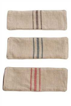 small natural fabric linen pillow covers