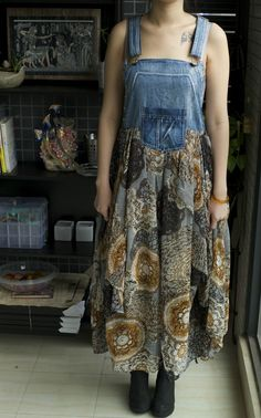 Festival Bohemian Denim Overalls Long Dress 10 | eBay