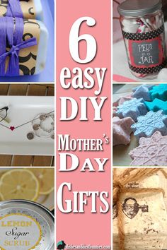 Mother's Day is fast approaching so I've put together a roundup of some easy DIY Mother's Day gifts that can be made at home!