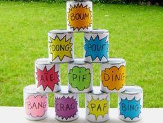 Creez ensemble un drôle de jeu avec des boites de conserves: une activité créative et ludique!