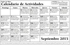 septiembre - escuela primaria http://www.onlinefreespanish.com/blog/calendario-de-consejos-para-padres-parent-pointers-september-semtiembre-2015/