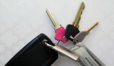 Pull out your nail polish and organize your keys! A fun and easy way to clean up your key chain!  thecrazyorganizedblog.com