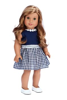 Saturday Afternoon - Clothes for 18 inch Doll - Navy Blue Dress (Shoes sold…