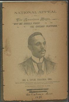 """Image 1 of National appeal to the American Negro : """"Why we should favor the Chicago platform"""" African American Genealogy, African American History, Oskaloosa Iowa, August 8, Republican Party, Moorish, Library Of Congress, Black History, Division"""